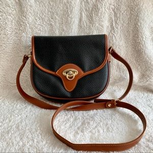 Vintage Dooney & Bourke • Crossbody Saddlebag
